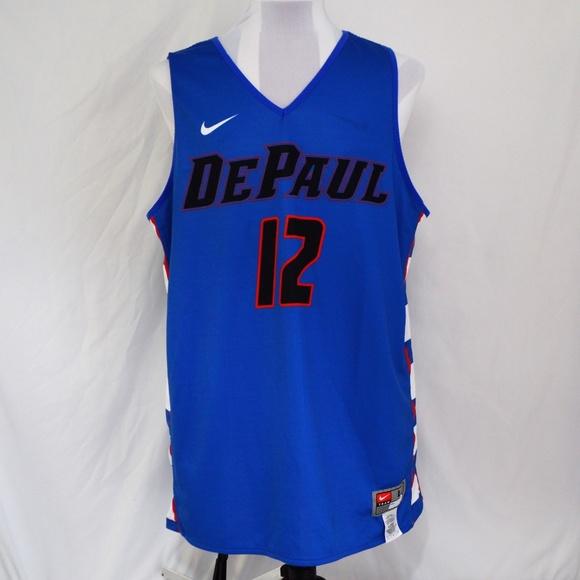 sports shoes cc441 ef775 Nike DePaul Blue Demons Reversible Jersey